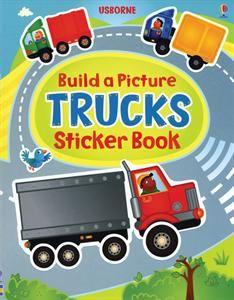 usborne books more build a picture trucks sticker book