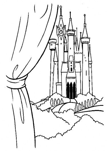 princess cinderella color pages printable | The Prince's Castle coloring page | Super Coloring
