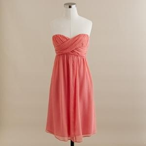 J.Crew: Coral Dress, Bridesmaids, Style, J Crew, Color, Coral Bridesmaid Dresses, Jcrew, Chiffon Dresses, Cute Bridesmaid Dresses