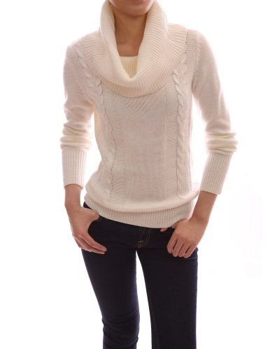 PattyBoutik Drape Ribbed Cowl Neck Cable Knit Pullover