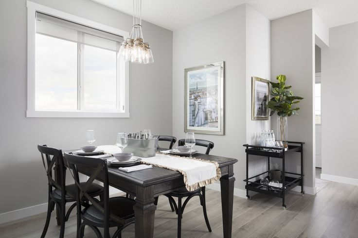 Dining room/nook in Creations by Shane Homes Samara Showhome in Midtown in Airdrie #diningroom #nook