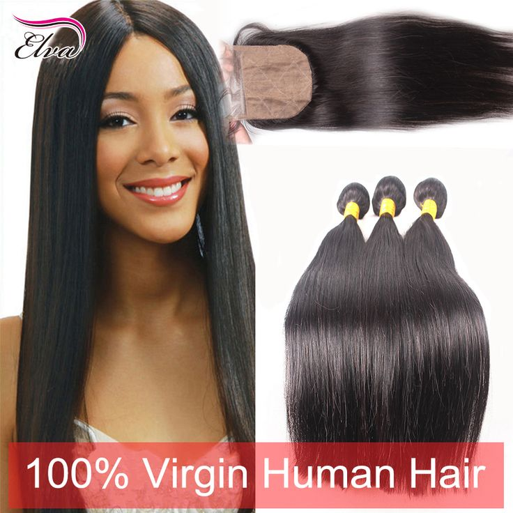 Find More Hair Weft with Closure Information about 7A Brazilian Straight Virgin Hair With Silk Base Closure,3 Bundles With Silk Closure,Free/3 Part Silk Base Closure With Bundles,High Quality hair salon equipment sale,China hair apple Suppliers, Cheap hair bowl from Elva Hair official store on Aliexpress.com