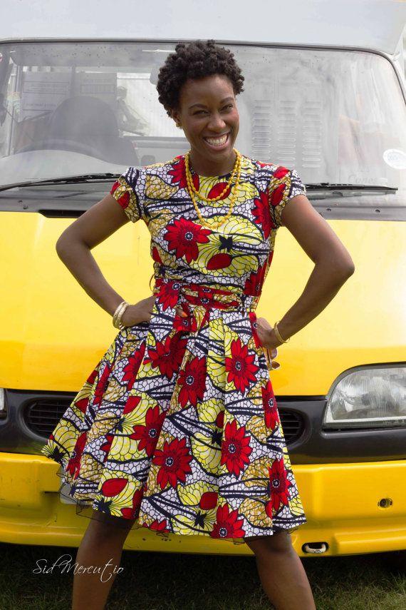 African red and yellow print Aliceinwonderland by GitasPortal #Ankara #african fashion #Africa #Clothing #Fashion #Ethnic #African #Traditional #Beautiful #Style #Beads #Gele #Kente #Ankara #Africanfashion #Nigerianfashion #Ghanaianfashion #Kenyanfashion #Burundifashion #senegalesefashion #Swahilifashion ~DK