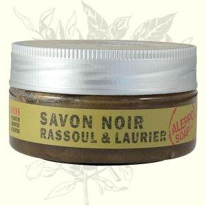 Jabón en pasta negro, alto contenido en Ghassoul y arcilla roja. Excelente renovador de la piel. Auténtico producto Hammam.