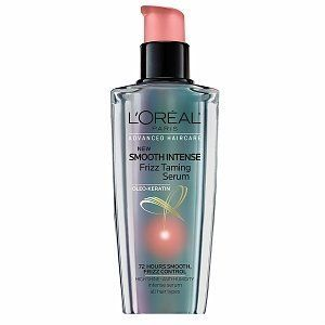 72 Hours Smooth, Frizz Control. Try it now: L'Oreal Advanced Haircare Smooth Intense Frizz Taming Serum, Pack of 2 for $15
