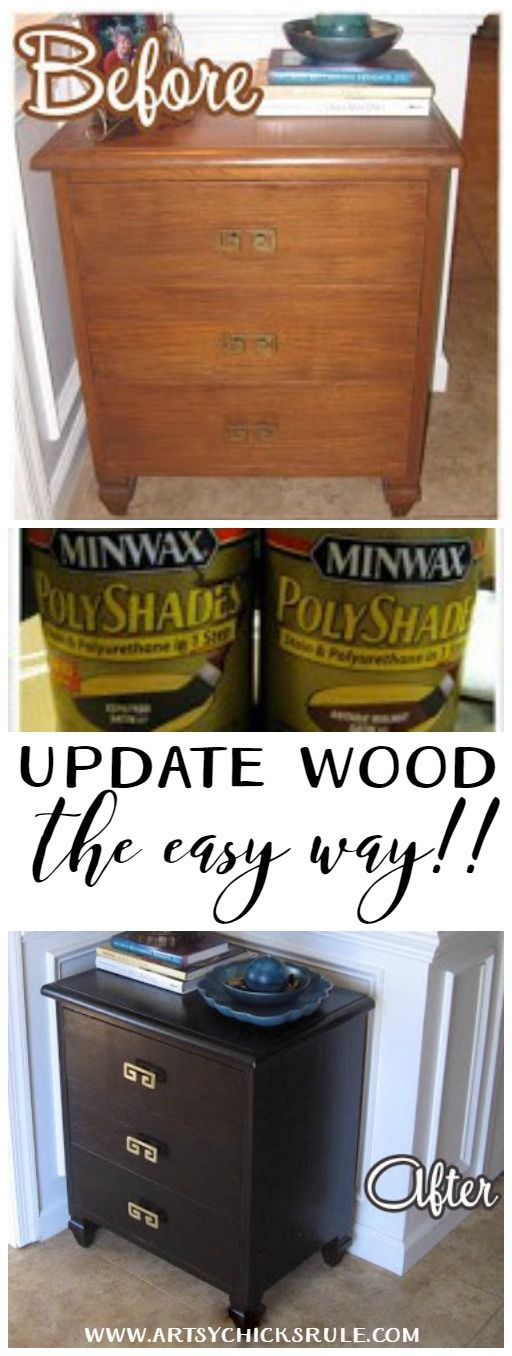 Super Easy Way to Update Wood Stained Furniture. Best 25  Staining furniture darker ideas on Pinterest   Gray wood