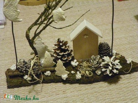 TÉLI ESTE- téli ajtódísz,koszorú,kopogtató,asztaldísz (galamb70) - Meska.hu
