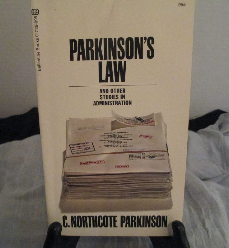 "Vintage ""Parkinson's Law""  Paperback 1971 C. NorthCote Parkinson  Printed in USA Scrapbook Paper by LivelyTreasures on Etsy"