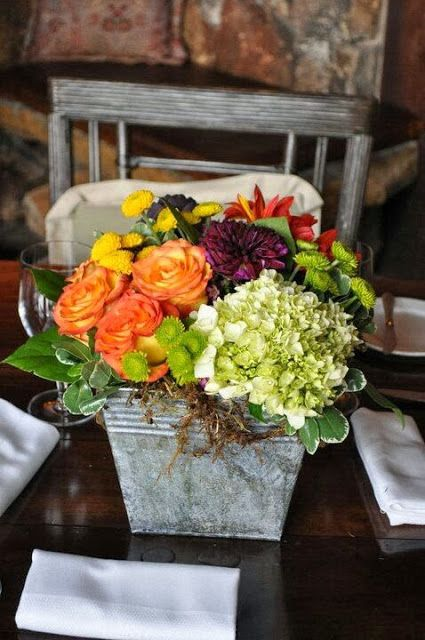 vignette design: Fall Centerpieces