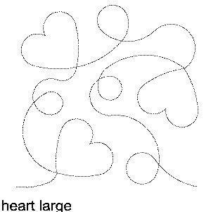 Heart (Large) Free Machine Quilting Pattern