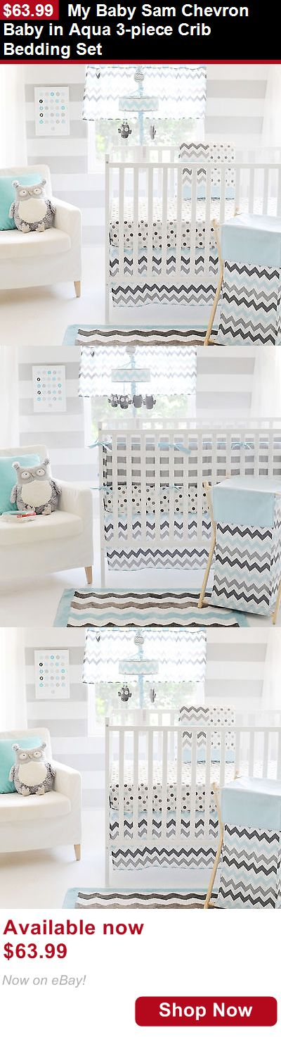 Nursery Bedding Sets: My Baby Sam Chevron Baby In Aqua 3-Piece Crib Bedding Set BUY IT NOW ONLY: $63.99
