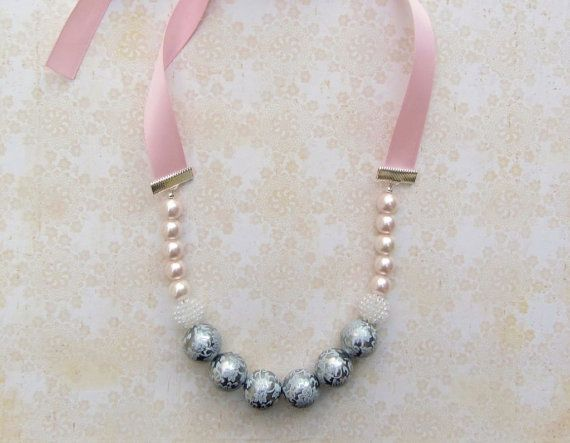 TAFFY TWIRLS Vintage Inspired Boutique Pearl toddler necklace - there is a matching bracelet :)