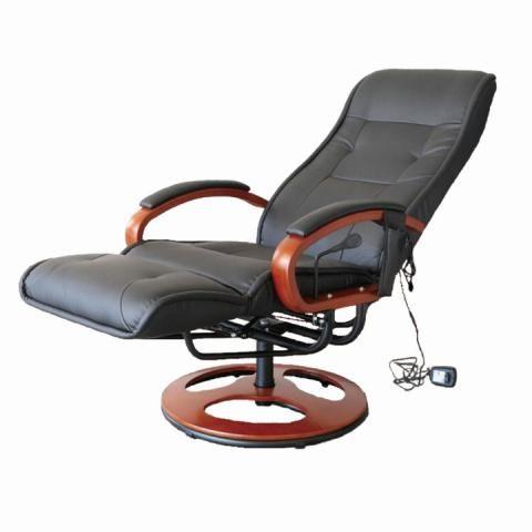 Elektrické kreslo ARTUŠ 2 relaxačné polohovacie split koža/ekokoža čierna