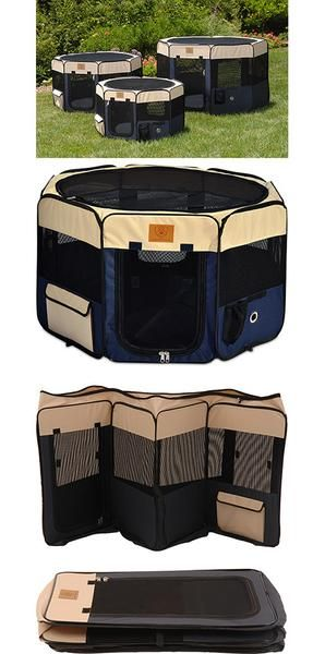 Need help with finding the right size? See our Dog Crate Size Breed Chart. Description For indoor or outdoor use, this versatile navy & tan soft dog plaype