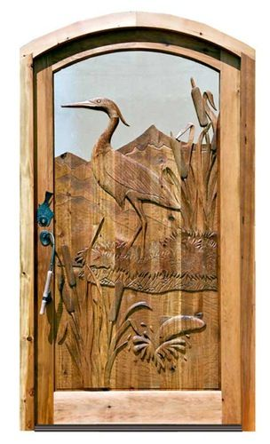 Hand Made Carved Doors- this looks like a art piece from my nan's house :)