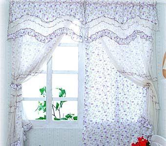 летние шторы из ситца фото