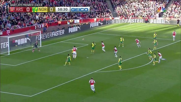 D. Welbeck scores against Norwich City (1-0)