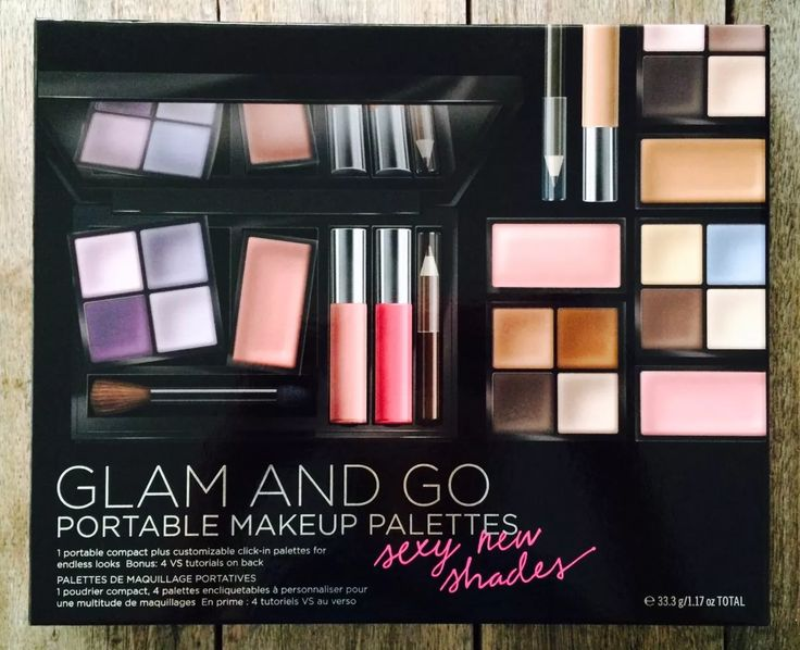 victoria's secret glam and go portable makeup set maquillaje