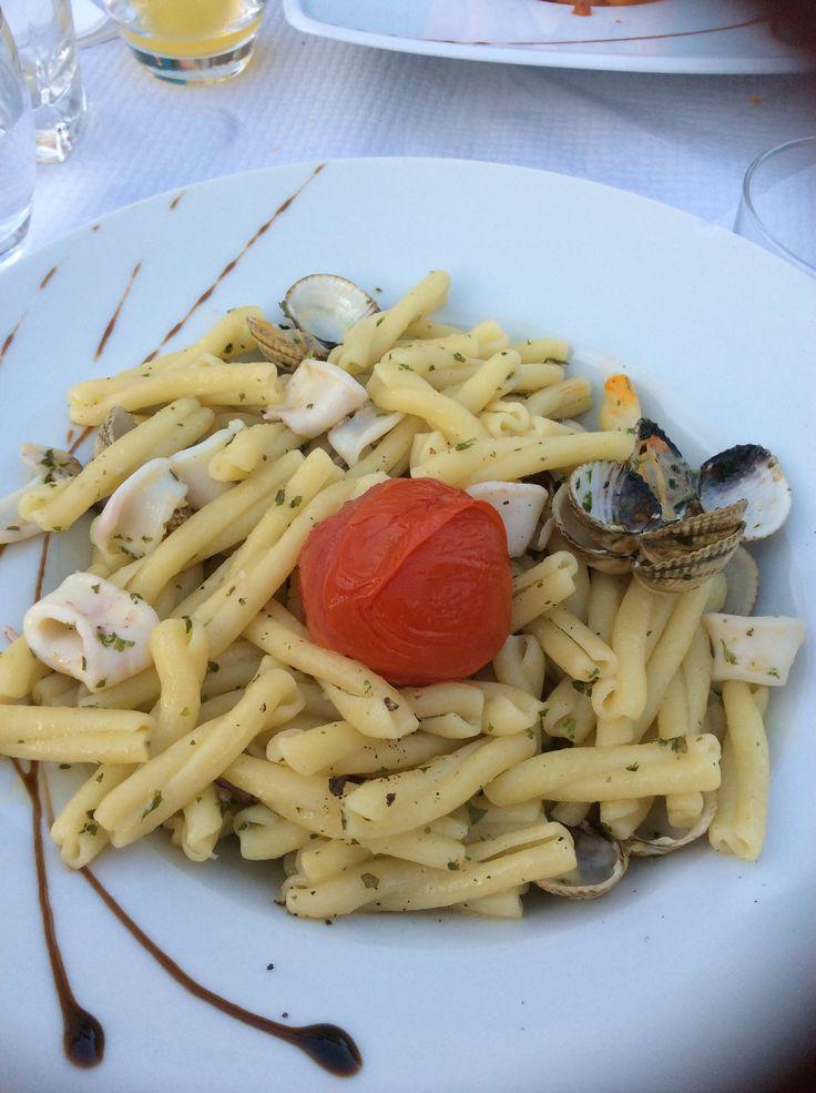 Pasta with Calamari and Olive Oil -Saint Emilion France