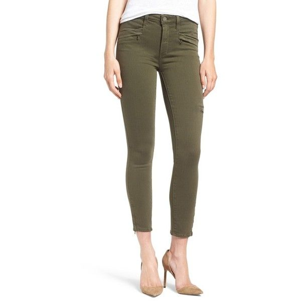 Women's Paige 'Daryn' High Rise Ankle Zip Skinny Jeans ($153) ❤ liked - Best 25+ Green Skinny Jeans Ideas On Pinterest Green Skinnies