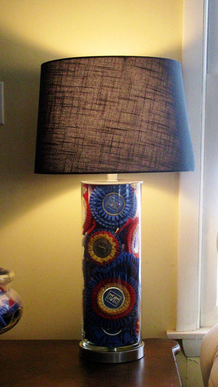 My ribbon lamp.  Devon, Harrisburg, The Royal...many memories in one lamp.