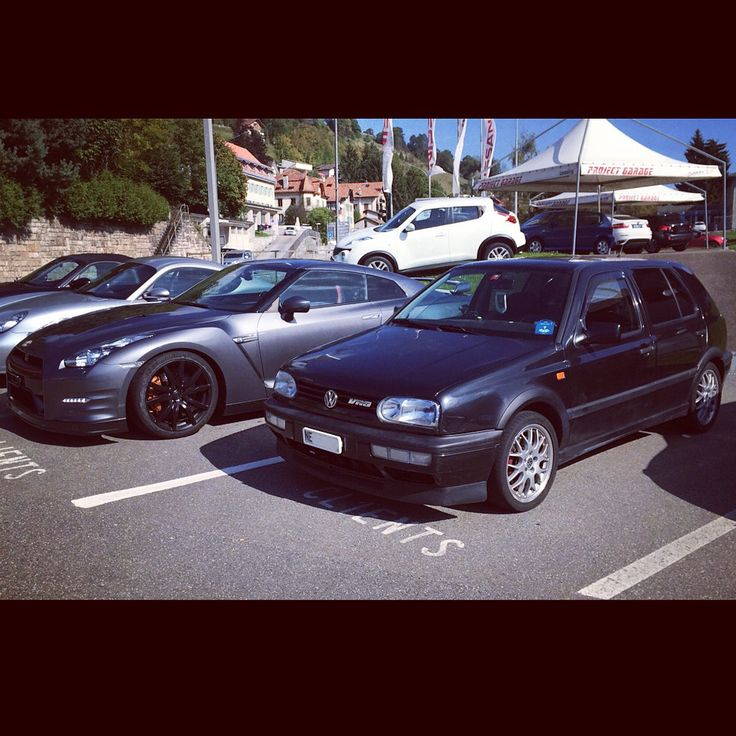 My VW golf vr6 and a Nissan GT-R