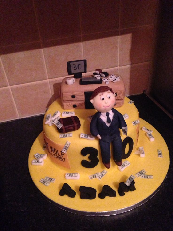 Business Man And Wolf Of Wall Street Cake Celebration