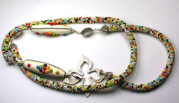 Multkolor long snake necklace  High fashion