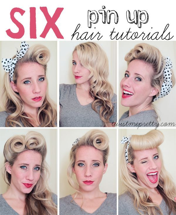 6 Pin-Up Hair Tutorials | Pin Up Hair, Pin Up and Hair ...