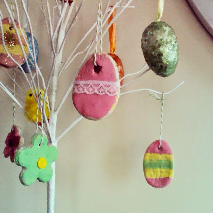 Salt dough Easter decorations