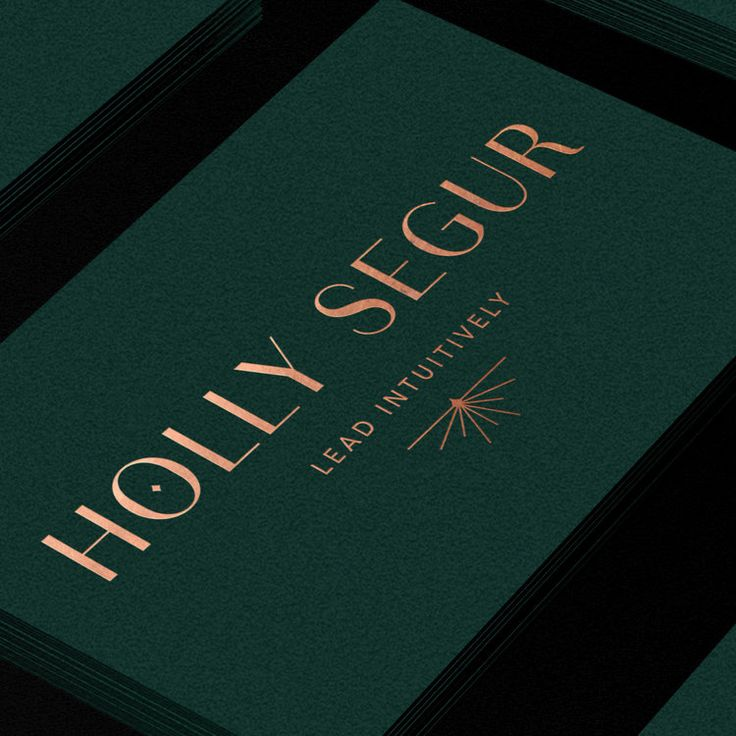 Emerald Green Business Card With Copper Foil Primary Logo