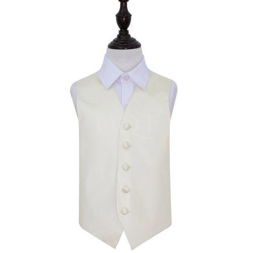 DQT-Plain-Ivory-Boys-Wedding-Waistcoat-Age-3-14-years-Available