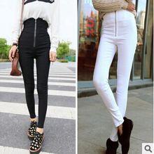 kadınların pantolon ince bel pantolon pantolon pantolon fermuarlı kalem pantolon yüksek- bel ayak pantolon eşofman calcas ücretsiz nakliye, d1051(China (Mainland))