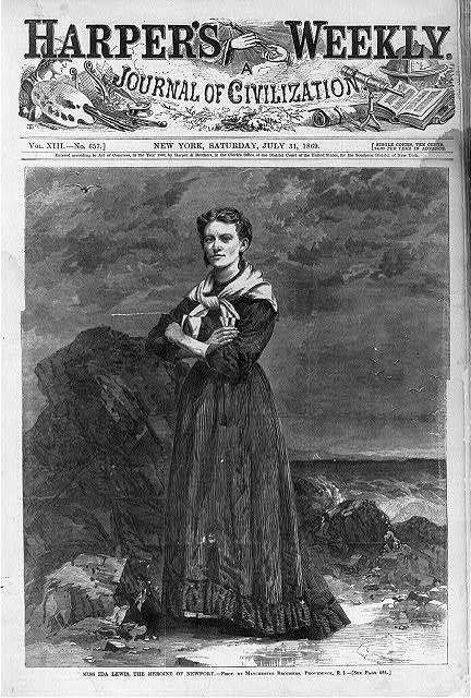 Miss Ida Lewis,Heroine of Newport,Rhode Island,Lighthouse Keeper,July 31,1869