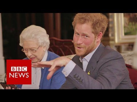 """The Queen vs The President: """"Boom"""" - BBC News - YouTube I THINK MY MOTHER WOULD HAVE RESPONDED JUST LIKE THAT WITH THE SAME IMPISH SMILE"""