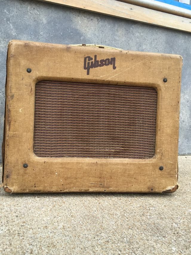 Vintage 1954 Gibson Les Paul Jr Tube Combo Amp #11348