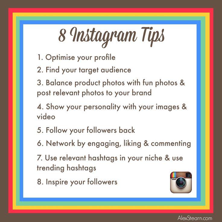 8 Instagram Tips