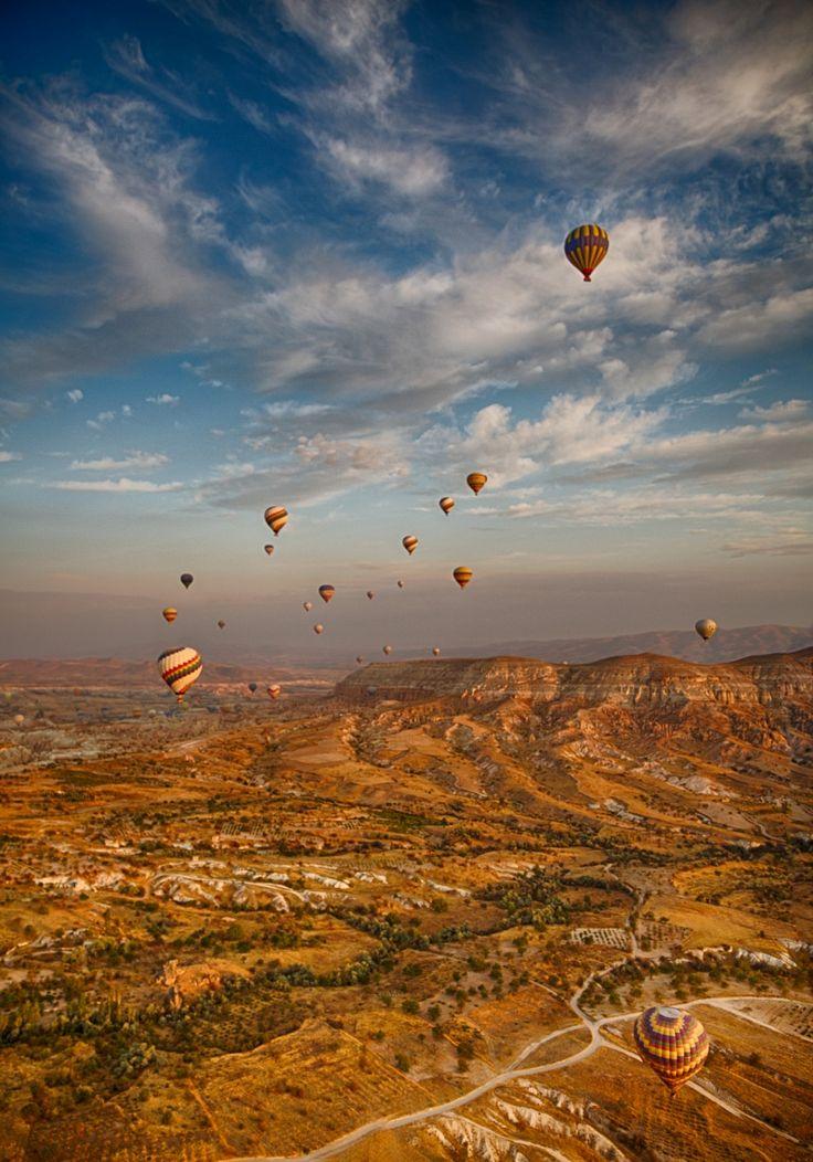 From High Above Hot Air Balloon, Cappadocia, Turkey