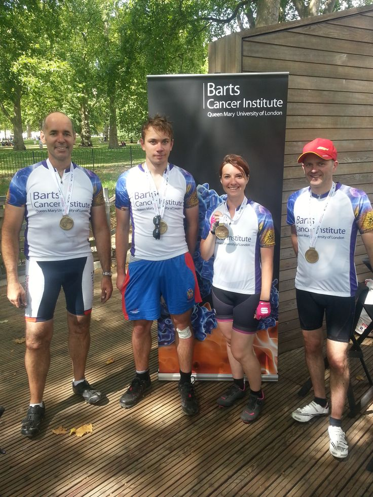 The Prudential RideLondon cycle team looking pretty good after their 100 mile ride!