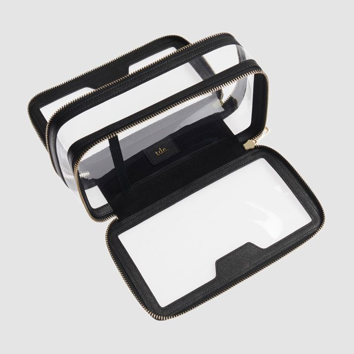 Black Clear Travel Case Cosmetic Case Makeup Bags Travel Travel Case