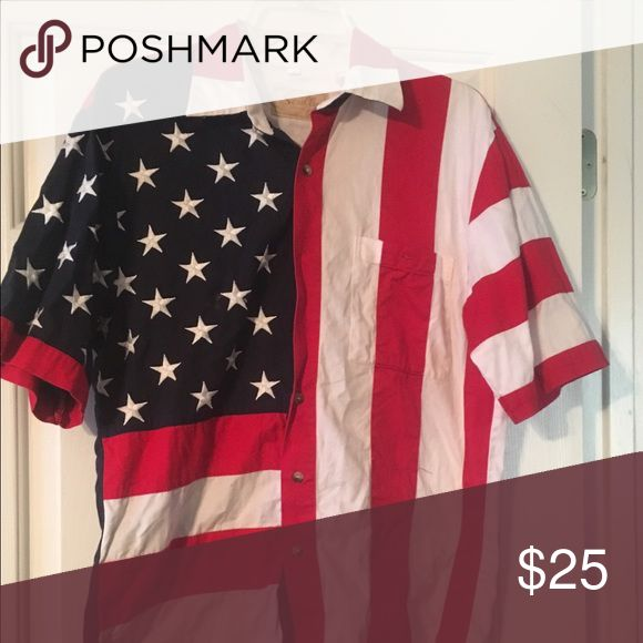 US Flag Shirt - worn once US Flag Shirt - worn once Scully Shirts Casual Button Down Shirts