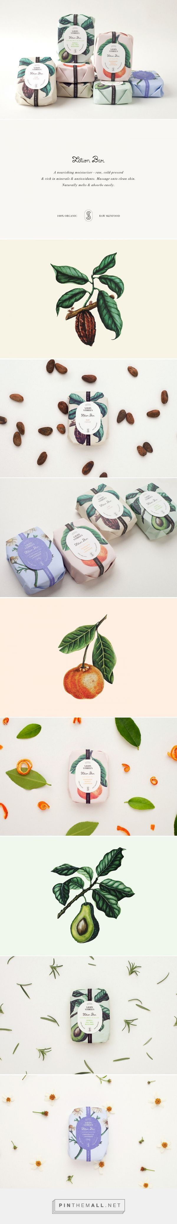 Art direction, illustration and packaging for Savon Stories Lotion Bars on Behance by Menta Guadalajara, Mexico curated by Packaging Diva PD. New luxury line made with raw ingredients and essential oils to nourish the skin deeply. #packaging #package #packagingdesign #graphicdesign #creative #creativemarket