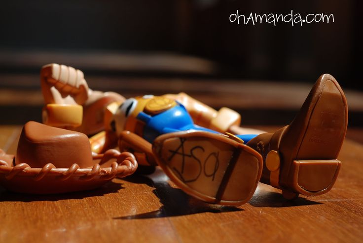 Adorable idea for a Toy Story party- birthday boy's name on Woody's boot!!!
