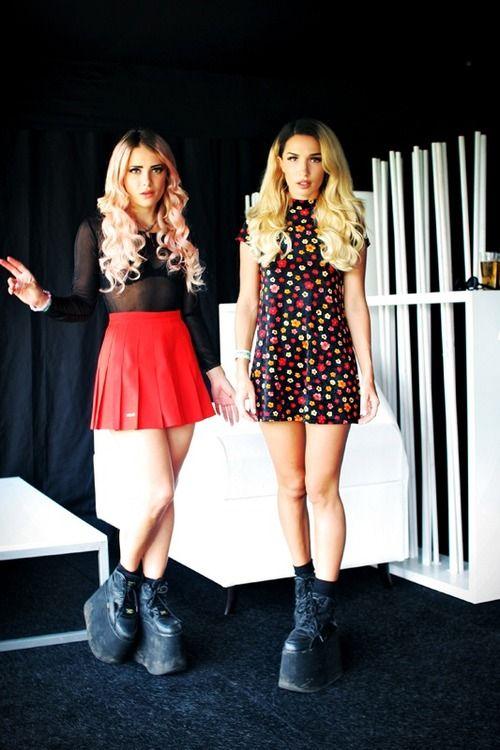 Rebecca & Fiona #female_djs #edm #buffalo_shoes