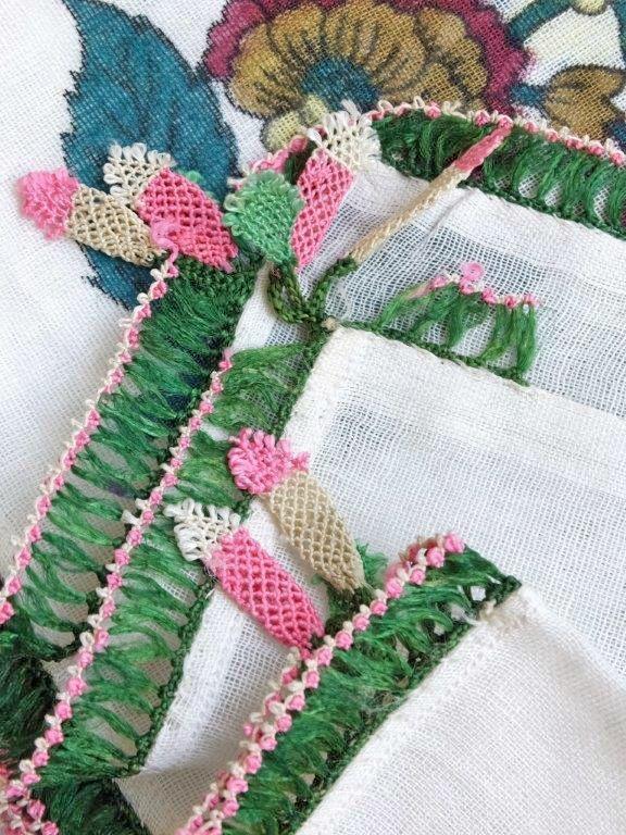 画像3: ナウルハン|アンティークイーネオヤスカーフ|シルク糸|落花生 (3)