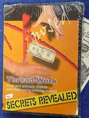 XPOSED THREAD WORK SECRETS REVEALED NEW DVD LEVITATION MAGIC VINTAGE LOT Collectibles:Fantasy, Mythical & Magic:Magic:Books, Lecture Notes www.internetauctionservicesllc.com $19.99