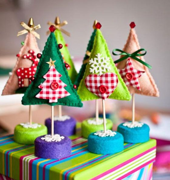 Enchanted forest -Whimsical Felt Christmas Trees