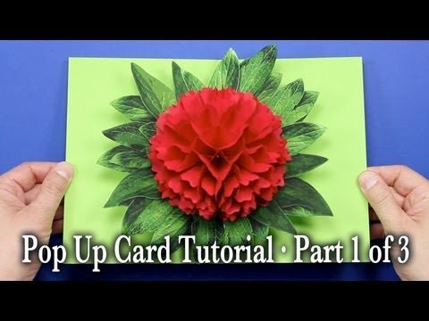 Flower Pop Up Card Tutorial Part 1 of 3 - YouTube