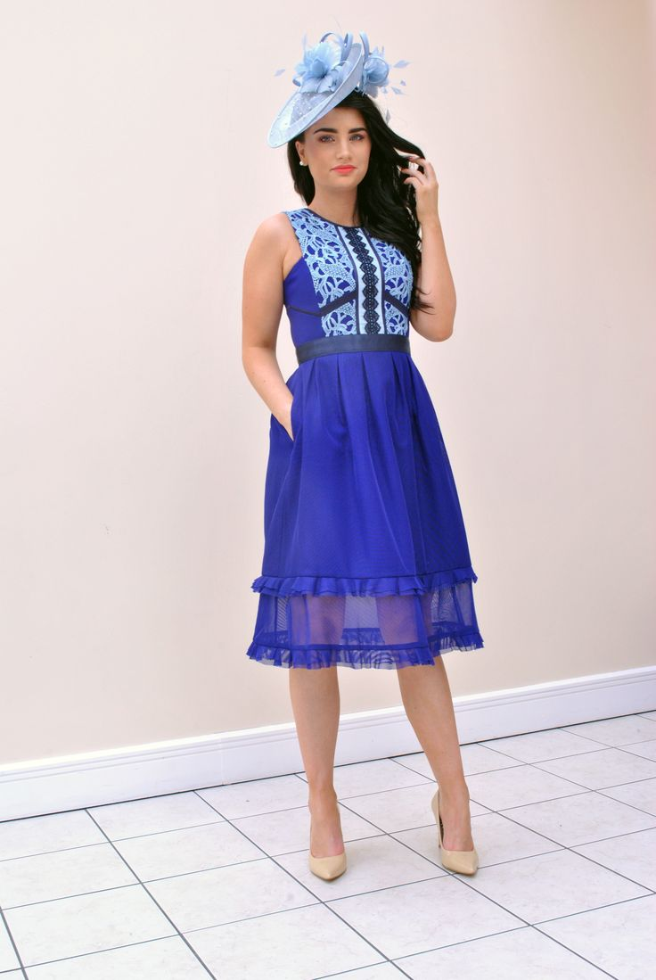 Buy Dress Here > https://www.mcelhinneys.com/three-floor-commence-crochet-bodice-fit-and-flare-dress-ink-blue/?___store=default&nosto=nosto-page-product1