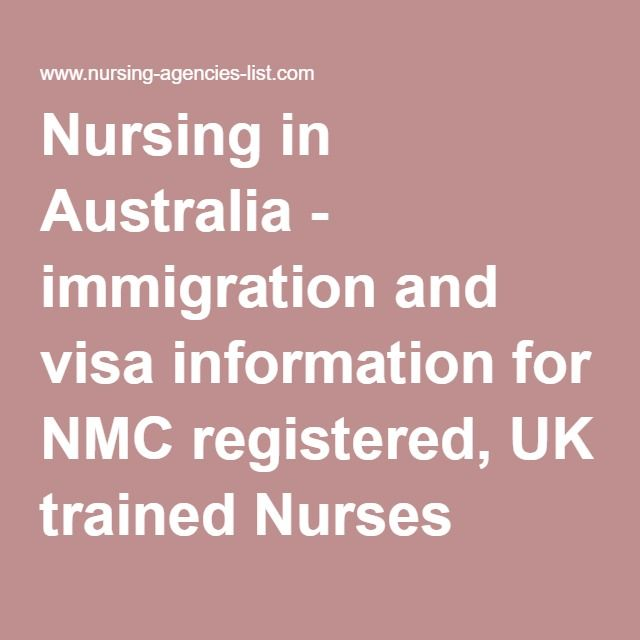 Nursing in Australia - immigration and visa information for NMC registered, UK trained Nurses